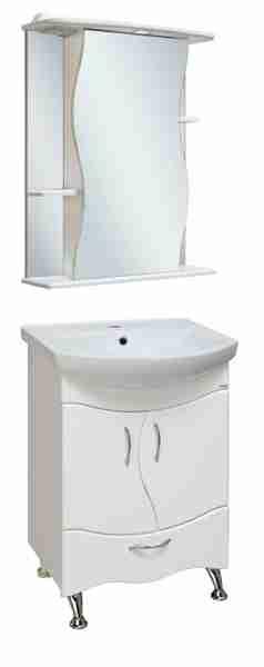 Runo Мебель для ванной Бриз 55 Лилия