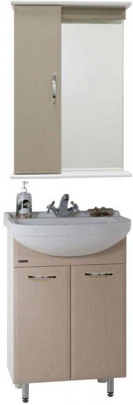Водолей Мебель для ванной Классик 55 дуб, зеркало-шкаф с подсветкой