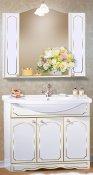 Бриклаер Мебель для ванной Лючия 100 белый глянец/золото