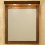 Opadiris Зеркало для ванной Мираж 65 с козырьком, орех