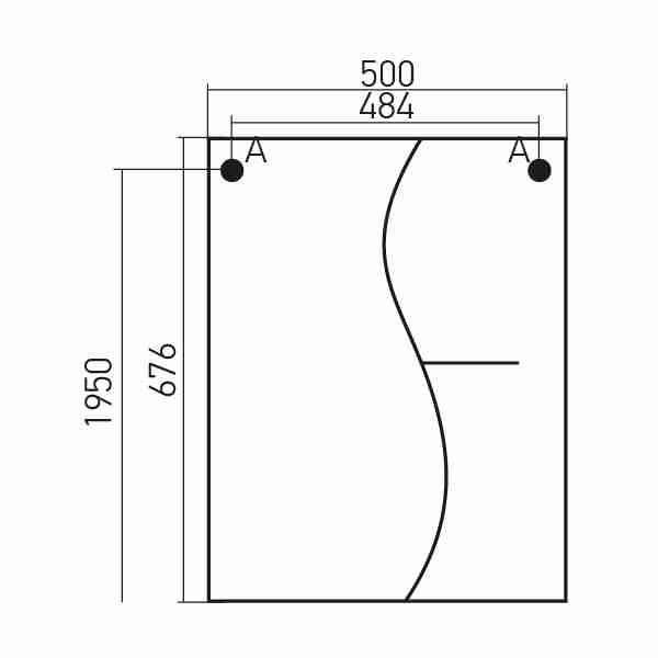 Mixline Мебель для ванной Классик 52 L (зеркало 50)