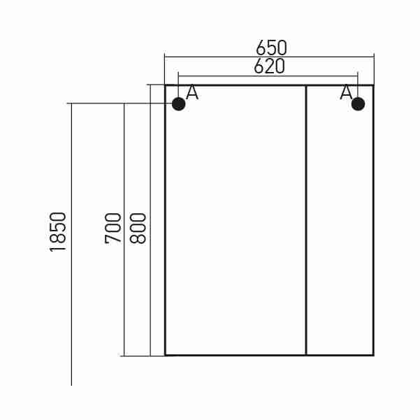 Mixline Мебель для ванной Версаль 65 L