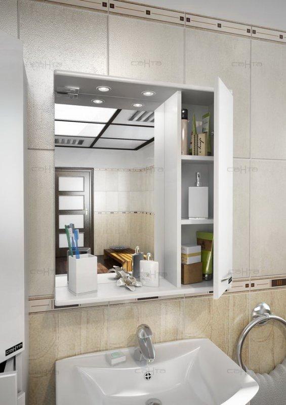 СанТа Зеркальный шкаф Прима 50 R свет