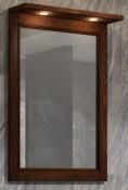 Opadiris Зеркало для ванной Клио 56 орех антикварный