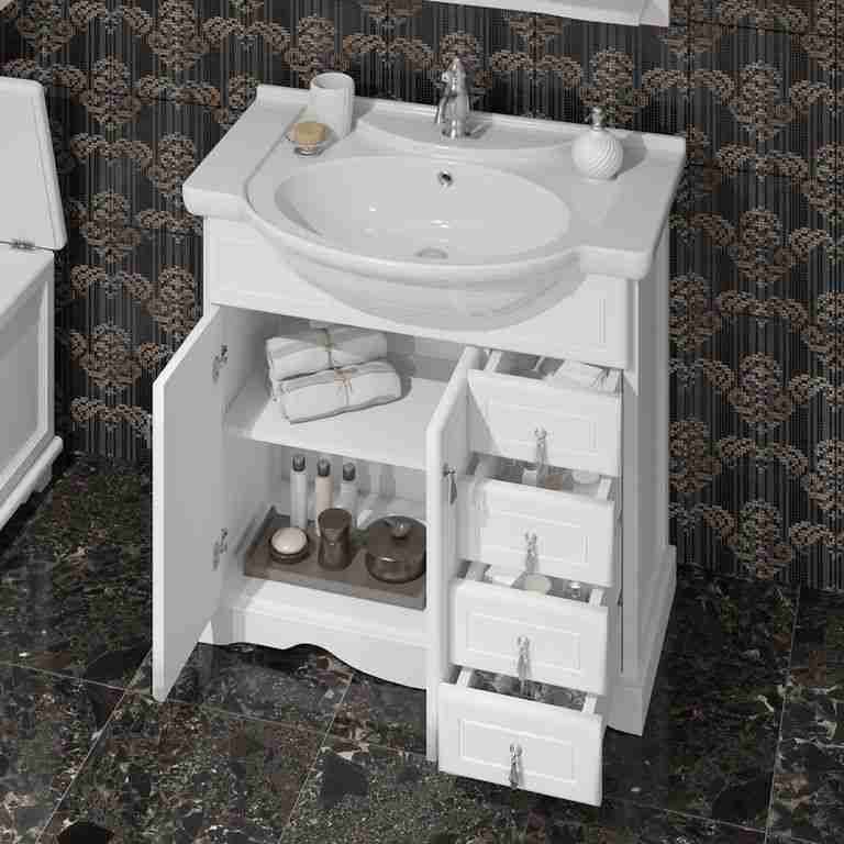 Opadiris Мебель для ванной Клио 70 белый матовый