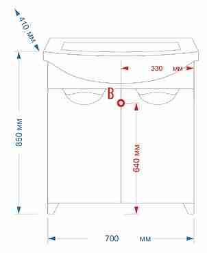Misty Мебель для ванной Лаванда 70 прямая