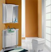 Акватон Мебель для ванной Альтаир 62 угловая, бело-серая