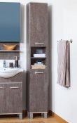 Бриклаер Пенал для ванной Карибы 34 с б/к дуб антик/сатин