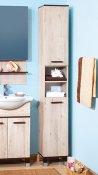 Бриклаер Пенал для ванной Карибы 34 с б/к венге/дуб кантри