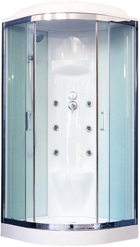 Royal Bath Душевая кабина RB 100HK7-WT-CH (белое/прозрачное стекло)