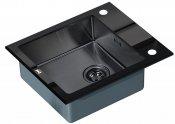 Zorg Кухонная мойка Inox Glass GL-6051-BLACK-GRAFIT