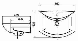 СанТа Мебель для ванной Афины 60 L