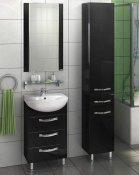 """Акватон Мебель для ванной """"Ария 50"""" Н черная"""