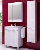 Aqwella Мебель для ванной Бриг 60 сосна магия, с дверцами и зеркальным шкафом
