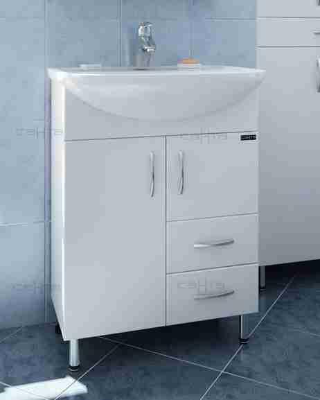 СанТа Мебель для ванной Сити Волна 60 R с ящиками