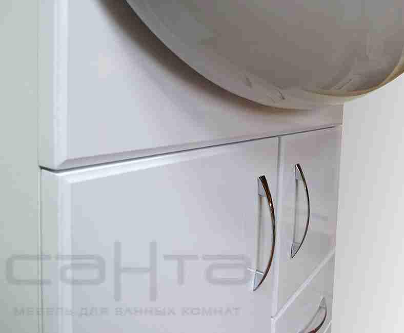 СанТа Мебель для ванной Сити Прима 60 с ящиками