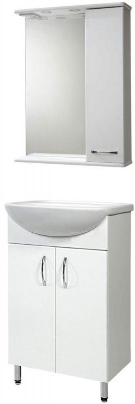 СанТа Мебель для ванной Сити Прима 50 R свет