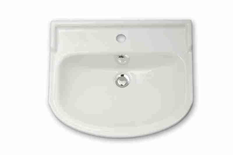 Водолей Мебель для ванной Классик 60 L белая, зеркало-шкаф с подсветкой