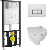 Vitra Комплект: Arkitekt 9005B003-7211 кнопка хром