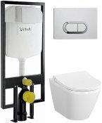 Vitra Комплект: инсталляция + унитаз Integra с микролифтом