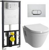 Vitra Комплект: S50 9003B003-7201 кнопка хром