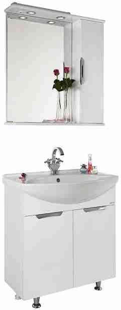 Водолей Мебель для ванной Лира 75 R белая