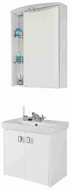 Водолей Мебель для ванной Мона 60 R белая