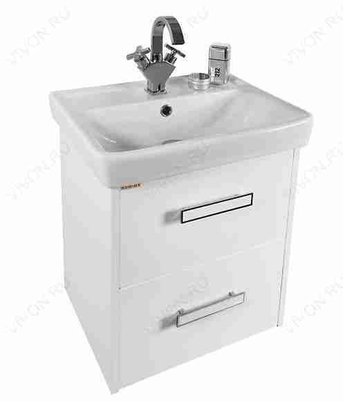 Водолей Мебель для ванной Мона 50 L с ящиками белая