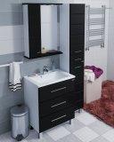 СанТа Мебель для ванной Омега 65 L напольная черная