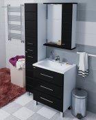 СанТа Мебель для ванной Омега 65 R напольная черная
