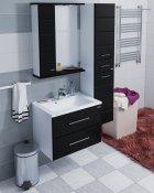 СанТа Мебель для ванной Омега 65 L подвесная черная