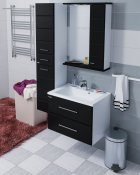 СанТа Мебель для ванной Омега 65 R подвесная черная
