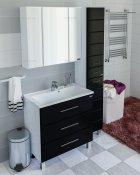 СанТа Мебель для ванной Омега 80 напольная черная