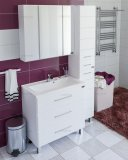 СанТа Мебель для ванной Омега 80 напольная, зеркало Стандарт