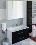 СанТа Мебель для ванной Омега 80 подвесная черная