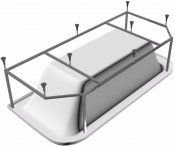 Vayer Каркас для ванны Options BTW 185x85