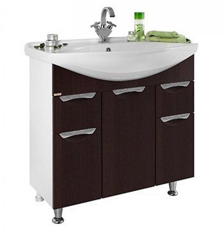 Водолей Мебель для ванной Лира 85 L венге
